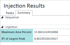 Results of this custom calculation